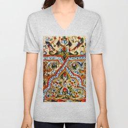 old motives / colorful / Armenian  Unisex V-Neck