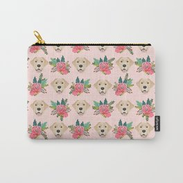 Yellow Labrador Retriever floral bouquet flowers yellow lab dog breed pattern gifts Carry-All Pouch