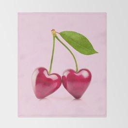 CHERRY LOVE Throw Blanket