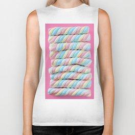 Pastel Rainbow Marshmallow Candy Biker Tank
