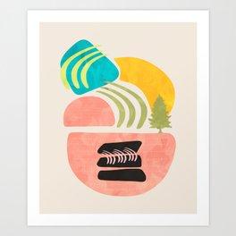 Modern shapes 1 Art Print