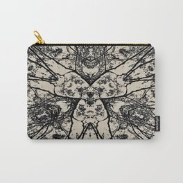 Black Flora No 1 Carry-All Pouch