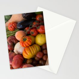Beautiful Basket of Fruits and Vegetables Stationery Cards