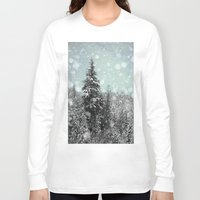 snow white Long Sleeve T-shirts featuring Snow by Pure Nature Photos