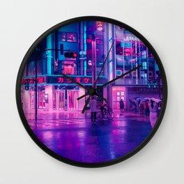 Neon Nostalgia Wall Clock