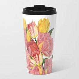 spring flowers with tulips Travel Mug