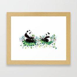 Peaceful Pandas Framed Art Print