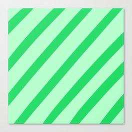 Leaf Stripes Canvas Print