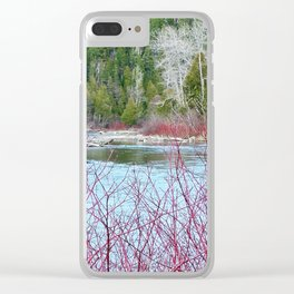River of Trees Clear iPhone Case