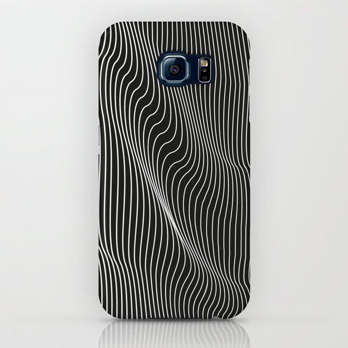 Minimal curves black iPhone Case