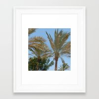palm trees Framed Art Prints featuring Palm Trees by MehrFarbeimLeben