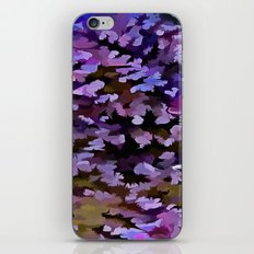 Foliage Abstract In Blue, Pink and Sienna iPhone & iPod Skin