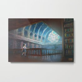 The Library under the Stars Metal Print