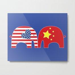 U.S.-China Friendship Elephants Metal Print