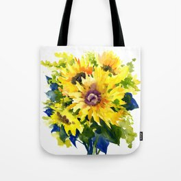 Colors of Summer, Sunflowers, Country style french country design Tote Bag