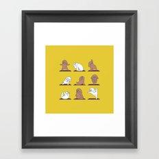 Poodle Yoga Framed Art Print