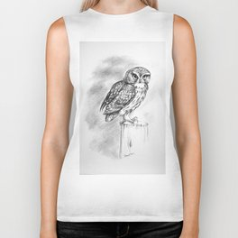Little Owl by Stuart Bass Biker Tank