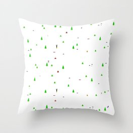 Gamers Have Hearts - Slalom Throw Pillow