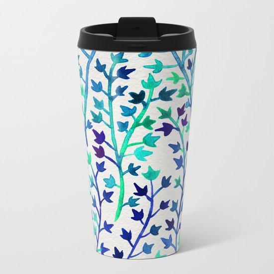 Turquoise Ivy Metal Travel Mug