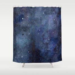 Night Sky Stars Galaxy | Watercolor Nebula Shower Curtain