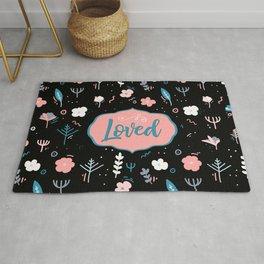 Loved - Black and Pink Design Rug