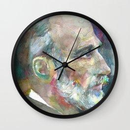 PIERRE CURIE - watercolor portrait Wall Clock