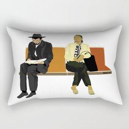 Subway Riders Rectangular Pillow