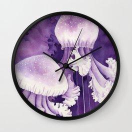 Purple Jellyfish Wall Clock