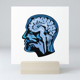 Brain Scanning Imaging Side Mini Art Print