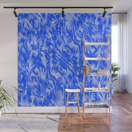 Fascinating smudges of diagonal delicate colors with blue. Wall Mural