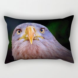 Eagle, The Look Rectangular Pillow