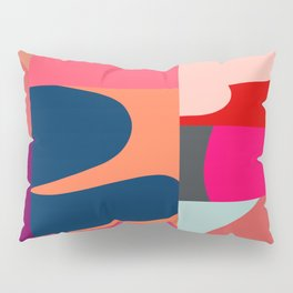 Modern collage in Red Pairings Pillow Sham