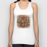 drunk Tank Tops featuring Drunk Sloth by Brian Coldrick