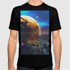 The landscape  MEDIUM Black Mens Fitted Tee
