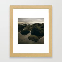 Rocky Shore and the Sea 02 Framed Art Print