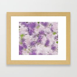 Purple - Lavender Fluffy Floral Abstract Framed Art Print