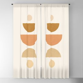 Abstraction_Geometric_Shape_Moon_Sun_Minimalism_001D Blackout Curtain