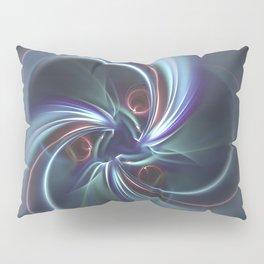 Moons Fractal in Cool Tones Pillow Sham
