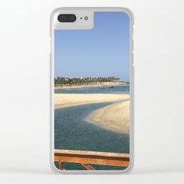 Scorcio di mare dal pontile Marsa Alam Clear iPhone Case