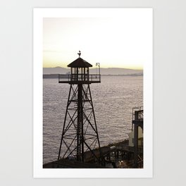 Alcatraz Look Out  Art Print
