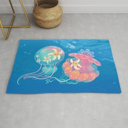 Jellyfish bus Rug