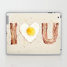 Bacon and Egg I love You Breakfast Food I heart Laptop & iPad Skin