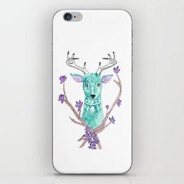 Floral Deer iPhone Skin
