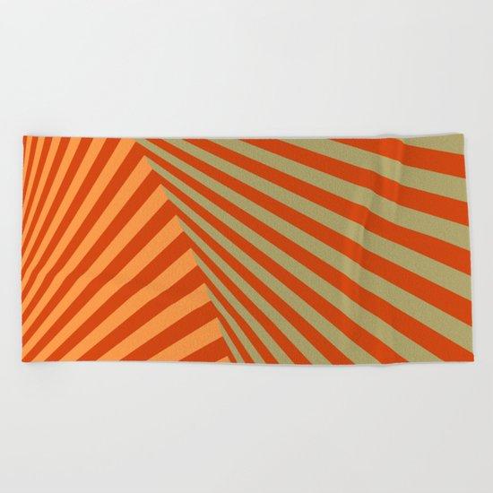 geometric composition 06 Beach Towel