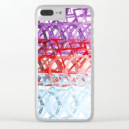 Bicycles palette Clear iPhone Case