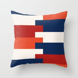 Minimalist Abstract colored stripes  Throw Pillow