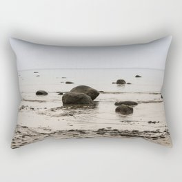Stones in the water. Rectangular Pillow