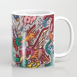 The Dragon with Owl Coffee Mug