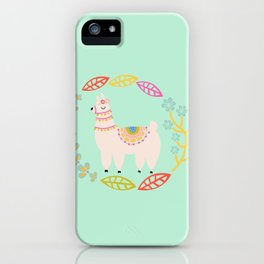 Lola Llama Mint iPhone Case