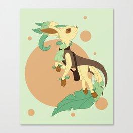 Leaf Steampunk Fox Canvas Print